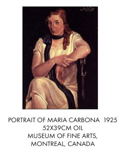 salvador dali Portrait of Maria Carbona 1925