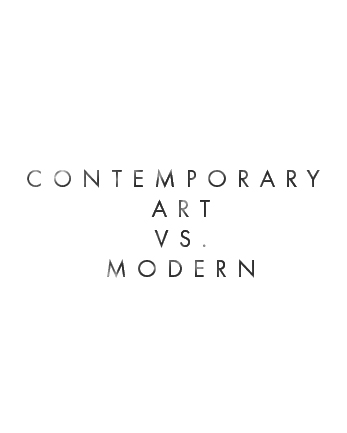 contemporary vs modern