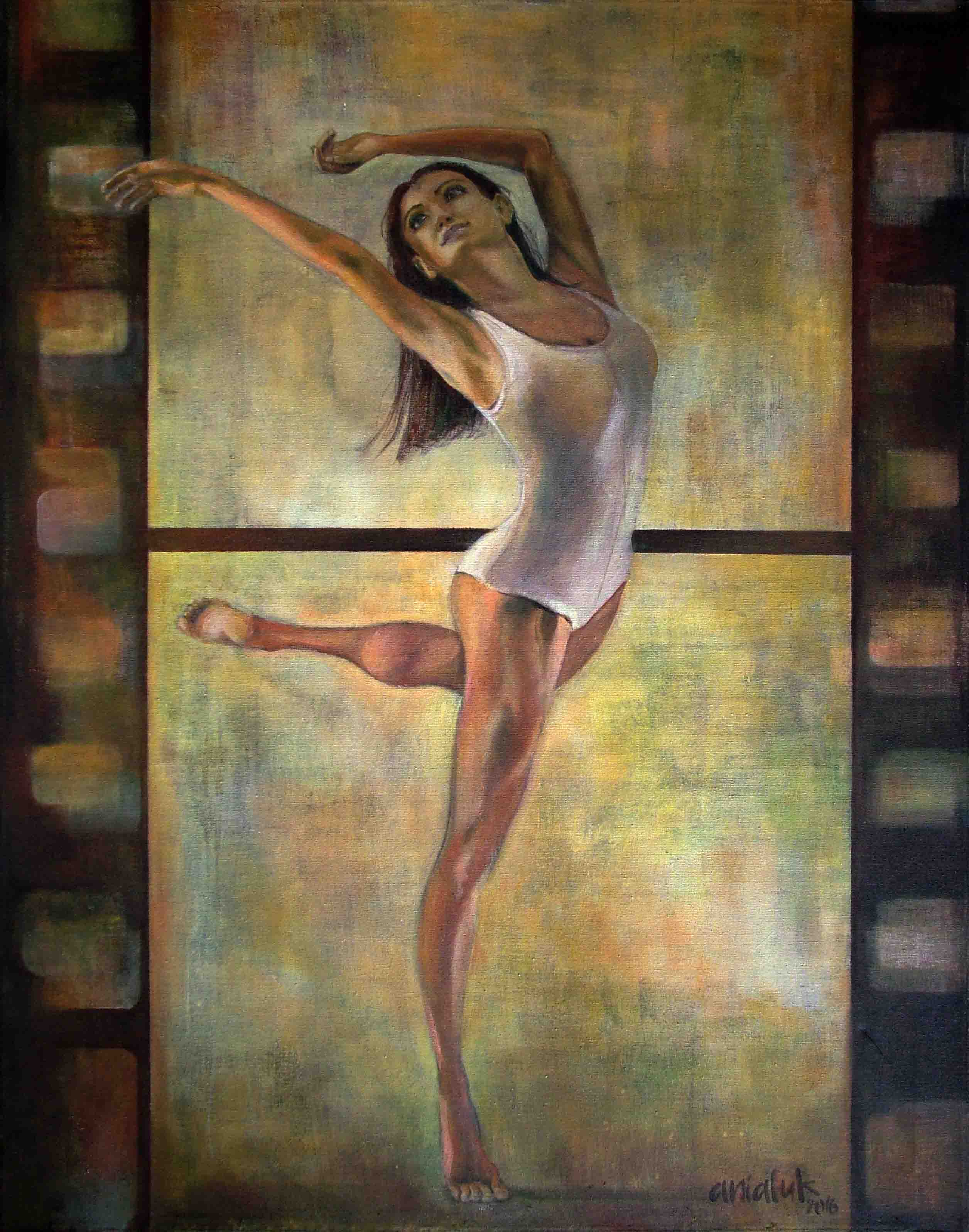 Ballerina Painting A Beautiful Ballet Dancer And Film