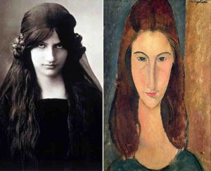 Amedeo Modigliani Picture and portrait of Jeanne Hebuterne