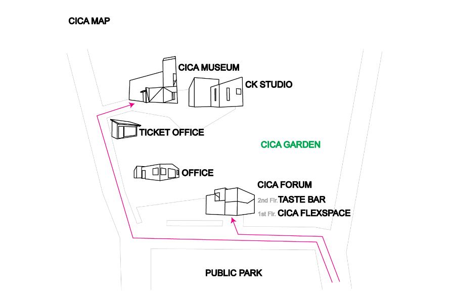 CICA Museum map