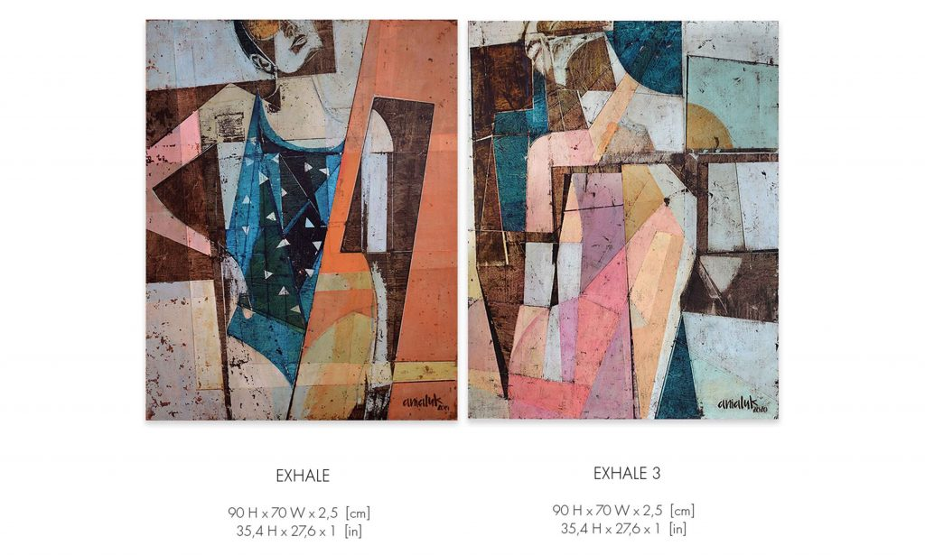 Diptych Exhale and Exhale 3