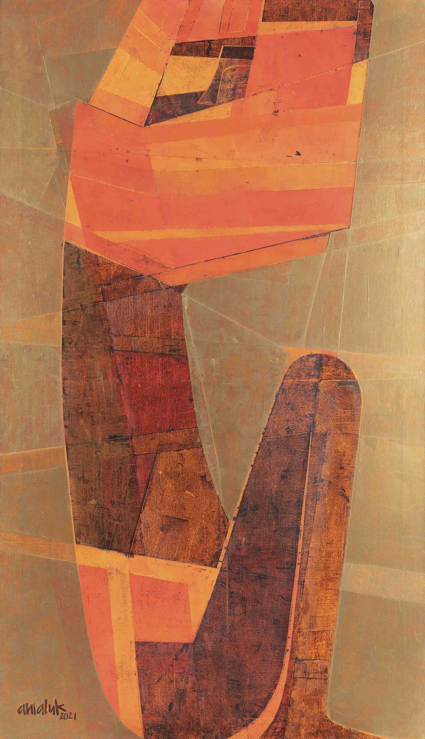 Reverse II by Ania Luk metalic
